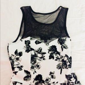 Trixxi Dresses - Brand New—Trixxi Black Floral Dress